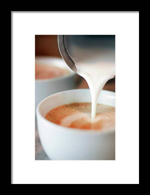 Breakfast Framed Print featuring the photograph Latte by Sf foodphoto