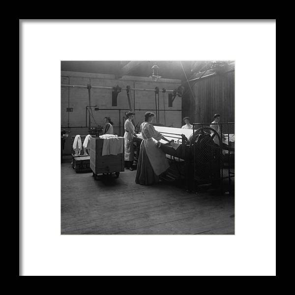 Carshalton Framed Print featuring the photograph Laundry by Hulton Archive