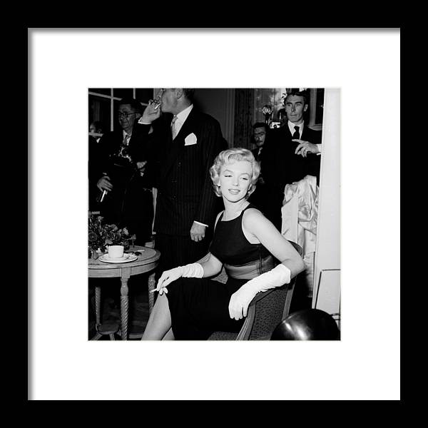 Corporate Business Framed Print featuring the photograph Laurence And Marilyn by Harry Kerr