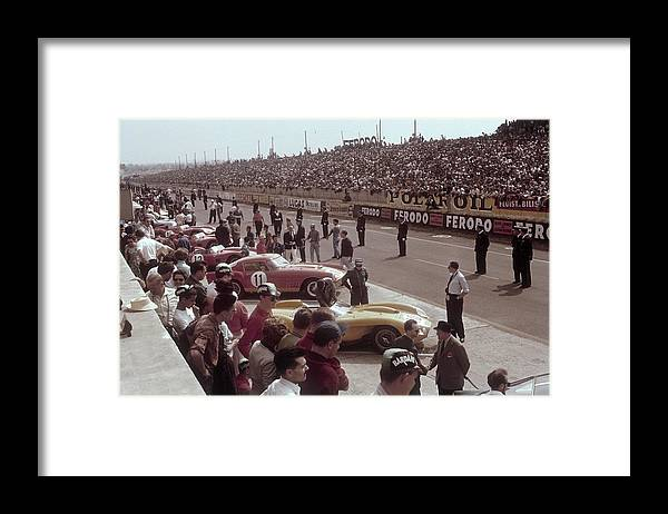 Crowd Framed Print featuring the photograph Le Mans Racing Circuit, France by Heritage Images