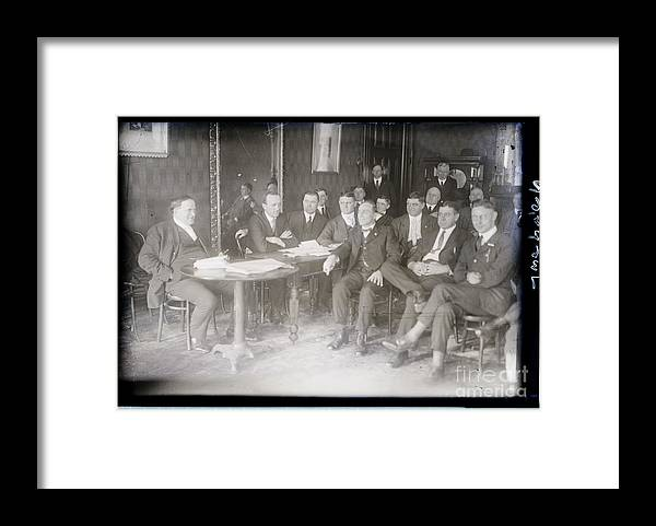 Employment And Labor Framed Print featuring the photograph Leaders At Steel Strike Meeting by Bettmann