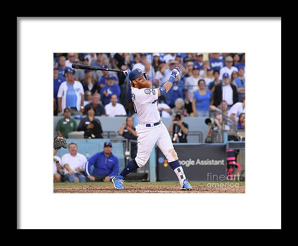 People Framed Print featuring the photograph League Championship Series - Milwaukee by Harry How