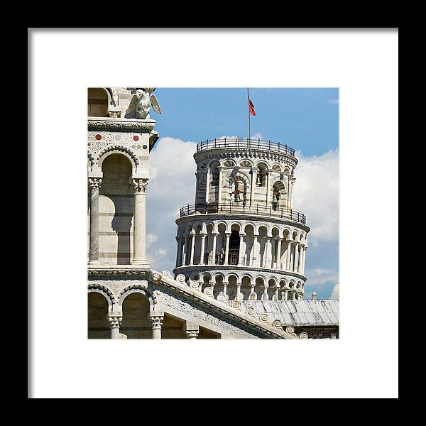 Italian Culture Framed Print featuring the photograph Leaning Tower Of Pisa, Tuscany, Italy by Miralex