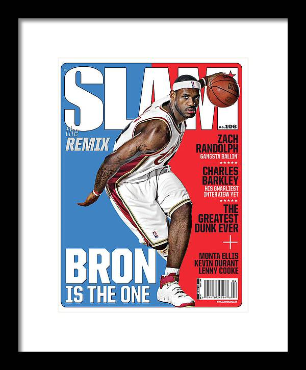 Lebron James Framed Print featuring the photograph Lebron Is The One SLAM Cover by Atiba Jefferson