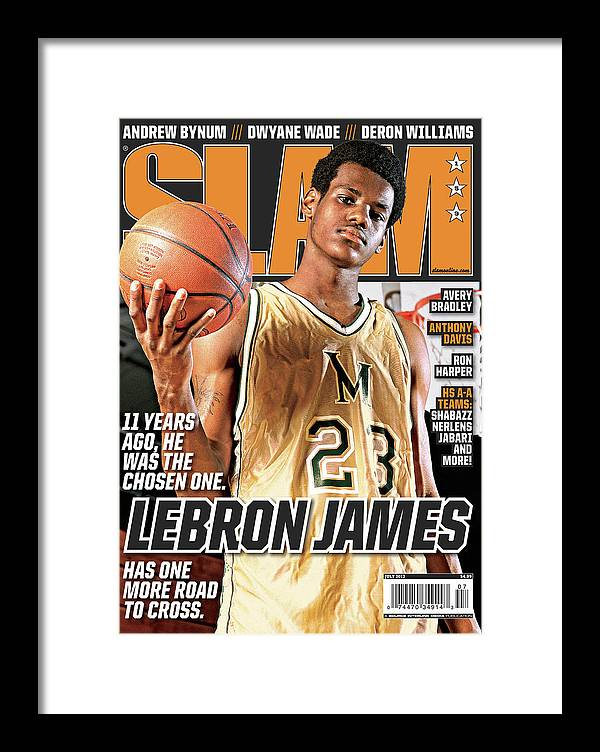 Lebron James Framed Print featuring the photograph Lebron James: 11 Years Ago, he was the Chosen One. SLAM Cover by Atiba Jefferson
