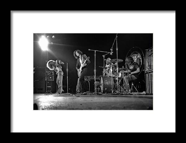 Performance Framed Print featuring the photograph Led Zeppelin At The Forum by Michael Ochs Archives