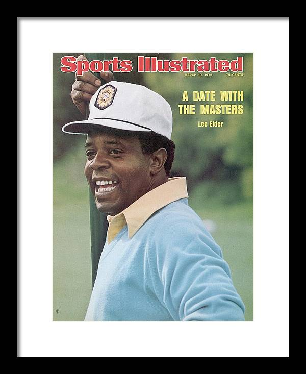 Magazine Cover Framed Print featuring the photograph Lee Elder, 1975 Jackie Gleason Inverrary Classic Sports Illustrated Cover by Sports Illustrated