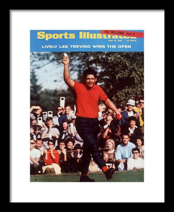 Magazine Cover Framed Print featuring the photograph Lee Trevino, 1968 Us Open Sports Illustrated Cover by Sports Illustrated