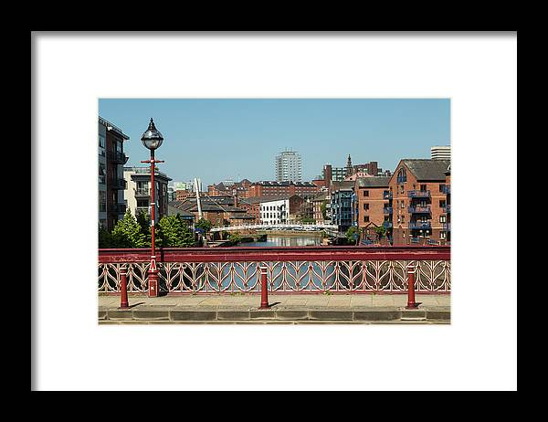 English Culture Framed Print featuring the photograph Leeds Waterfront Developments by P A Thompson