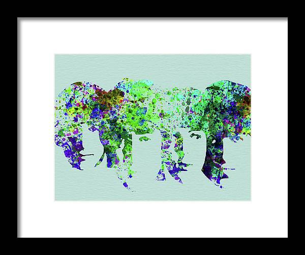 Beatles Framed Print featuring the mixed media Legendary Beetles Watercolor II by Naxart Studio
