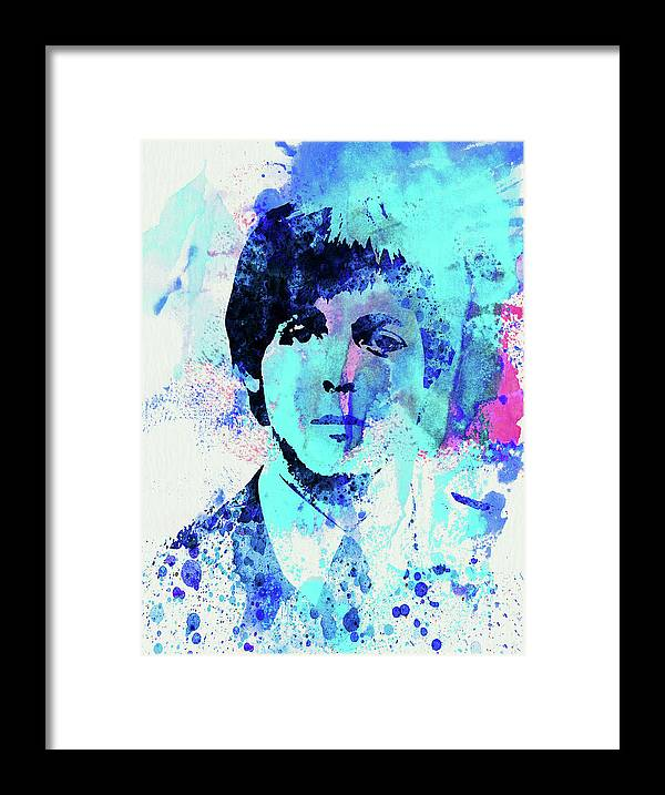 Beatles Framed Print featuring the mixed media Legendary Paul Watercolor by Naxart Studio