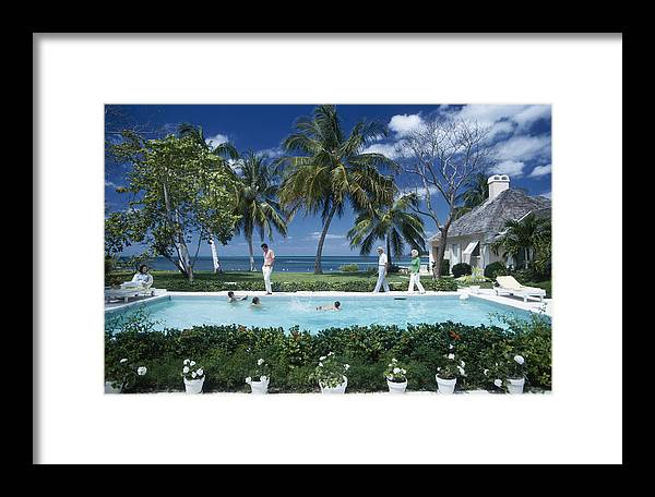 People Framed Print featuring the photograph Leonard Dalsemer by Slim Aarons