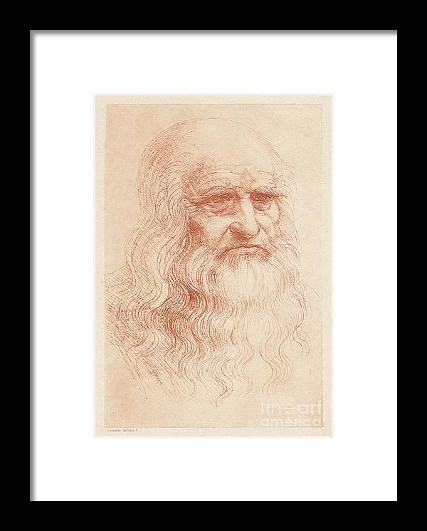 Painter Framed Print featuring the digital art Leonardo Da Vinci 1452-1519, Italian by Zu 09