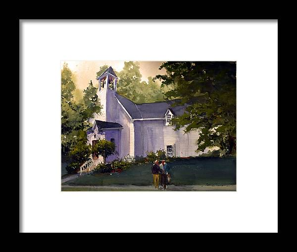 Liberty Framed Print featuring the painting Liberty Chapel 2019 by Charles Rowland