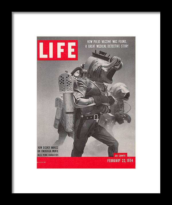 Underwater Framed Print featuring the photograph Life Cover 02-22-1954 Underwater Shot by Peter Stackpole