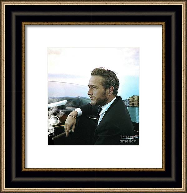 Life is a Journey, Paul Newman, movie star, cruising Venice, enjoying a Cuban cigar by Thomas Pollart