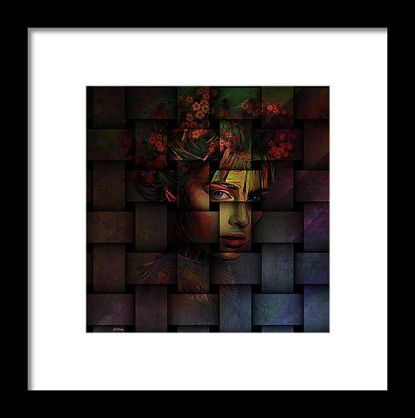 Weave Framed Print featuring the mixed media Life Is But A Weaving by G Berry