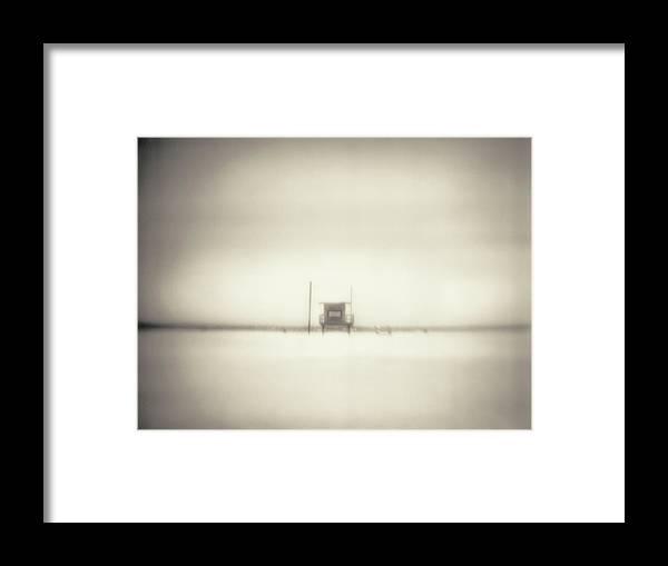 California Framed Print featuring the photograph Lifeguard Hut On Santa Monica Beach by Alan Horsager