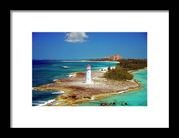 Outdoors Framed Print featuring the photograph Lighthouse On Paradise Island-nassau by Medioimages/photodisc
