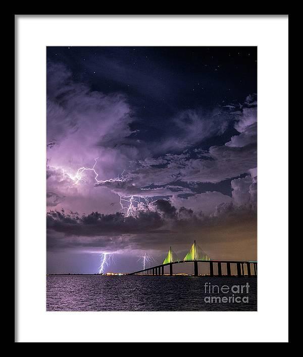 Lightning Sunshine Skyway Bridge by Damon Powers