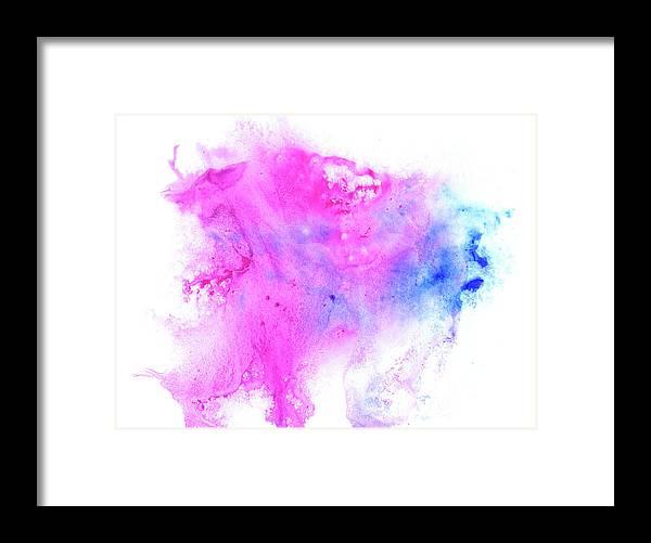 Art Framed Print featuring the digital art Lilac Blot by Pobytov