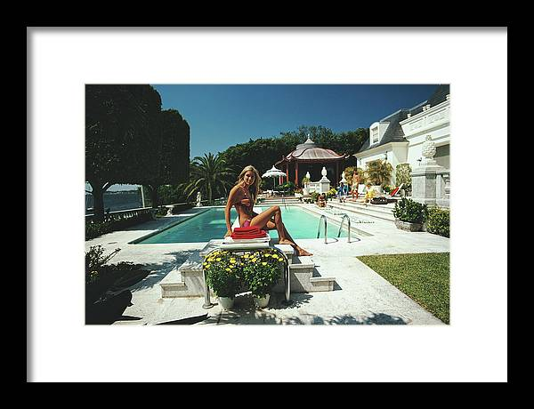 People Framed Print featuring the photograph Lillian Crawford by Slim Aarons