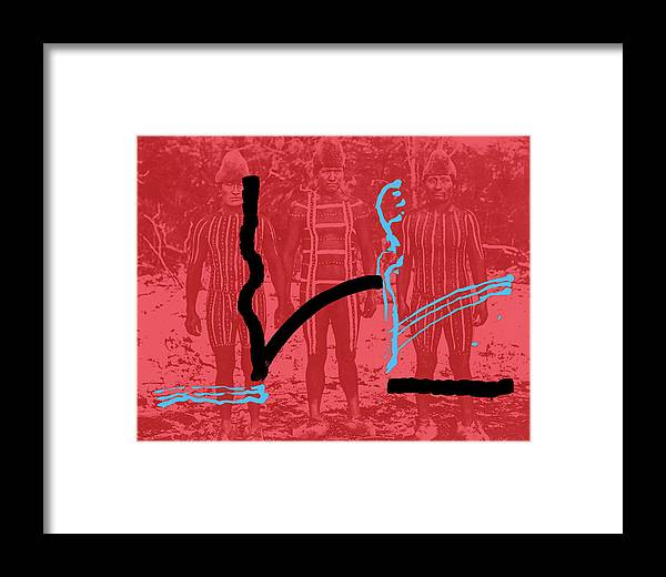 Body Painting Framed Print featuring the painting Lines by Yifat Gat