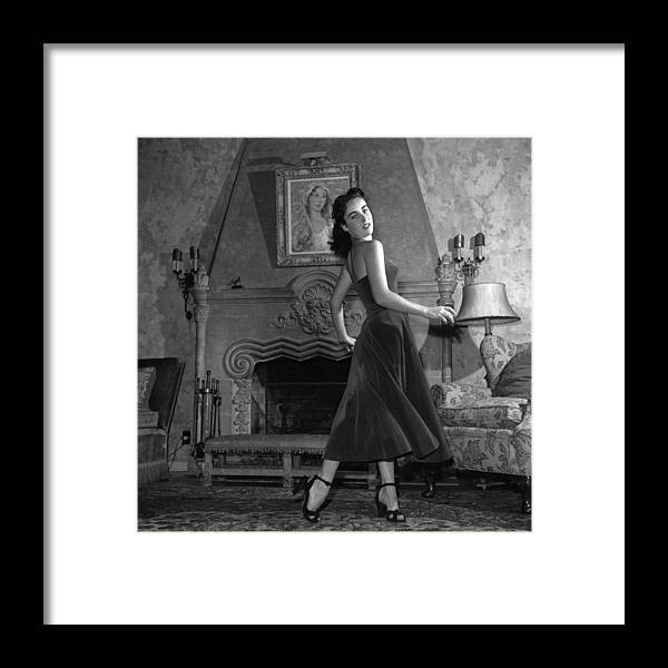 Elizabeth Taylor Framed Print featuring the photograph Liz Taylor by Archive Photos