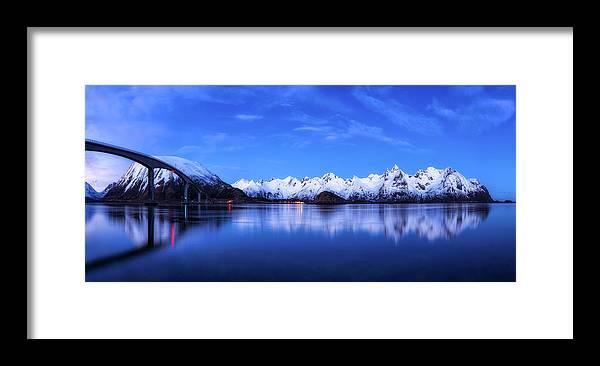 Bridge Framed Print featuring the photograph Lofoten Panorama by Daniel Fleischhacker