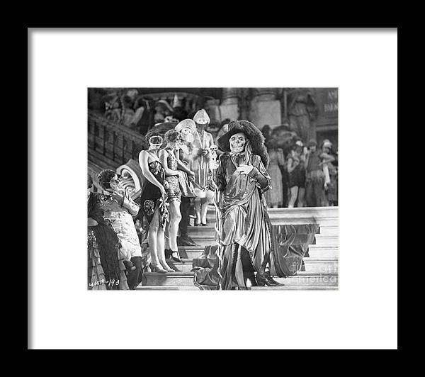 People Framed Print featuring the photograph Lon Cheney In Phantom Of The Opera by Bettmann