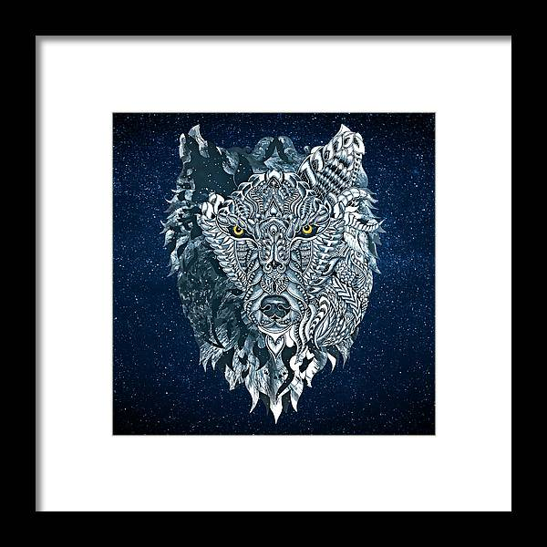 Lone Wolf Framed Print featuring the painting Lone Wolf by Rvaldevi