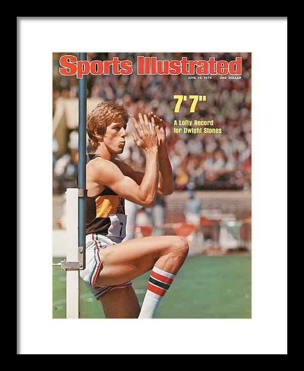 Magazine Cover Framed Print featuring the photograph Long Beach State Dwight Stones, 1976 Ncaa Championships Sports Illustrated Cover by Sports Illustrated