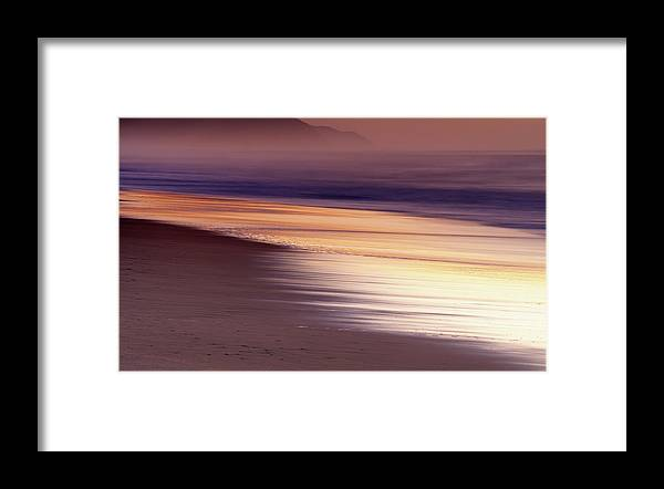 Tranquility Framed Print featuring the photograph Long Exposure Of Water At Dawn With by Emil Von Maltitz