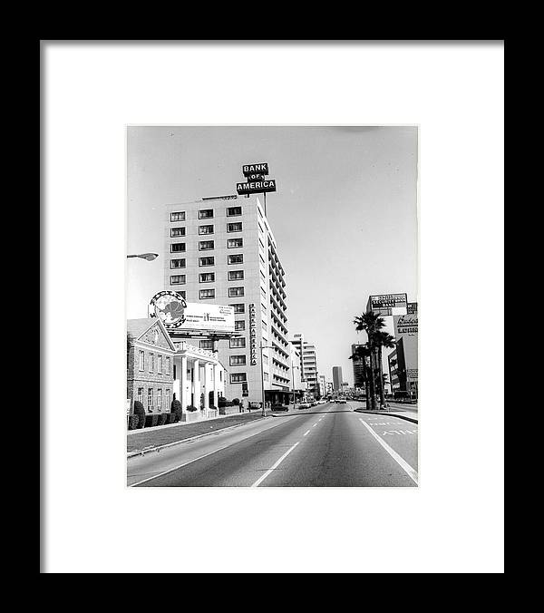 East Framed Print featuring the photograph Looking East On Wilshire Boulevard by American Stock Archive