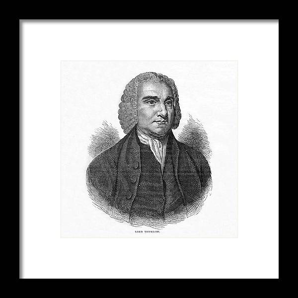 Engraving Framed Print featuring the drawing Lord Thurlow, British Lawyer And Tory by Print Collector