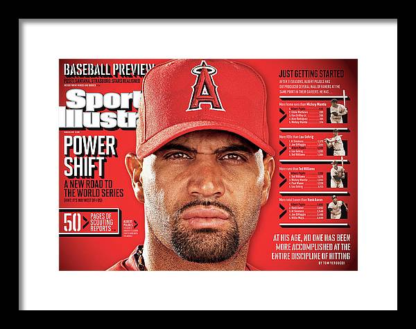 Magazine Cover Framed Print featuring the photograph Los Angeles Angels Of Anaheim Albert Pujols, 2012 Mlb Sports Illustrated Cover by Sports Illustrated