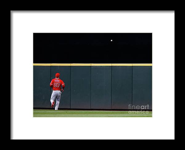 People Framed Print featuring the photograph Los Angeles Angels Of Anaheim V by Lindsey Wasson