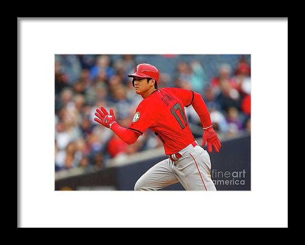 Three Quarter Length Framed Print featuring the photograph Los Angeles Angels Of Anaheim V New by Jim Mcisaac