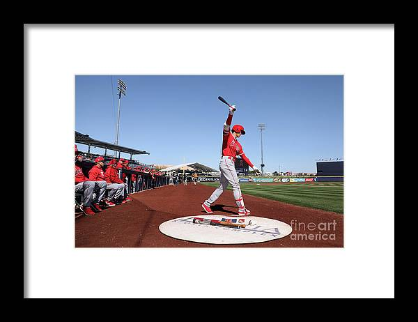 Peoria Sports Complex Framed Print featuring the photograph Los Angeles Angels Of Anaheim V San by Christian Petersen