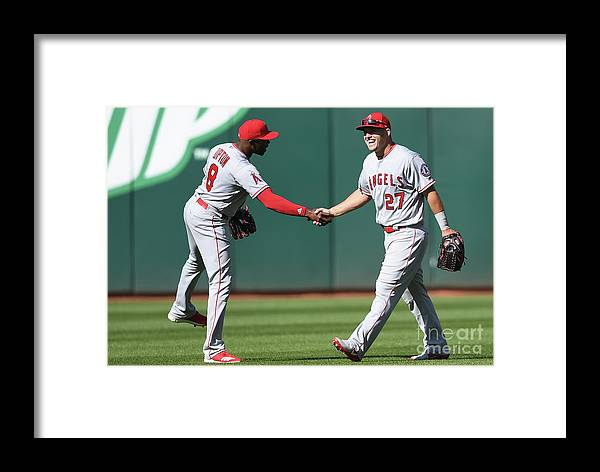 American League Baseball Framed Print featuring the photograph Los Angeles Angels Of Anaheim V by Thearon W. Henderson