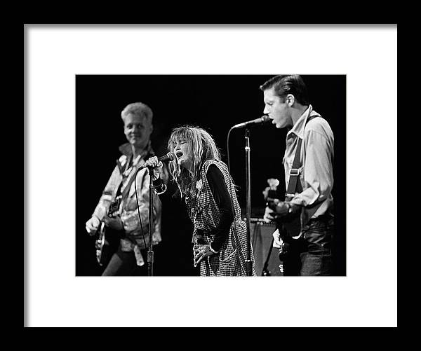 Rock Music Framed Print featuring the photograph Los Angeles Band X In Concert by George Rose