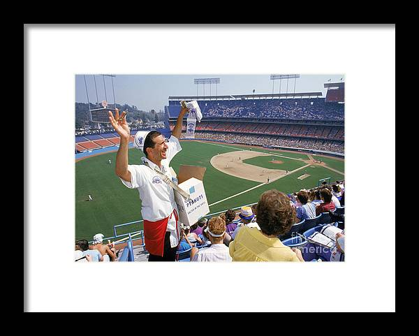1980-1989 Framed Print featuring the photograph Los Angeles Dodgers by Andrew D. Bernstein