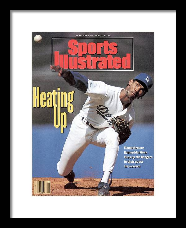 California Framed Print featuring the photograph Los Angeles Dodgers Ramon Martinez... Sports Illustrated Cover by Sports Illustrated