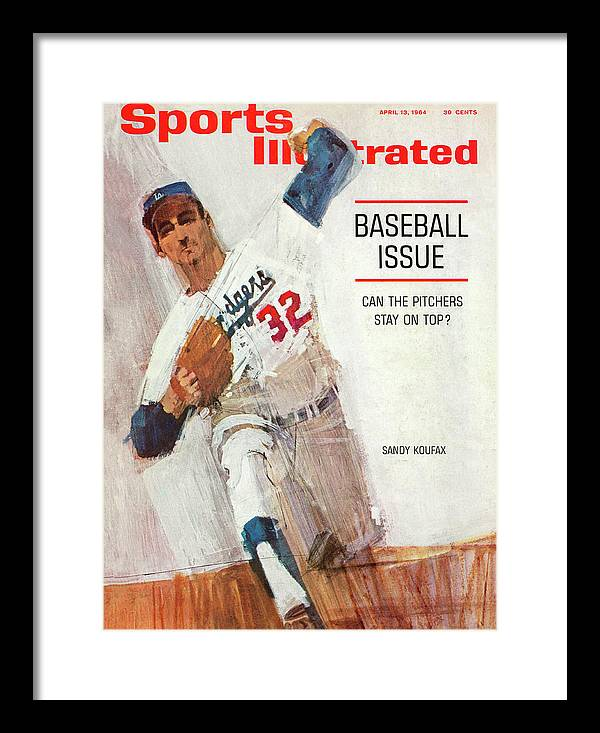 Magazine Cover Framed Print featuring the photograph Los Angeles Dodgers Sandy Koufax Sports Illustrated Cover by Sports Illustrated