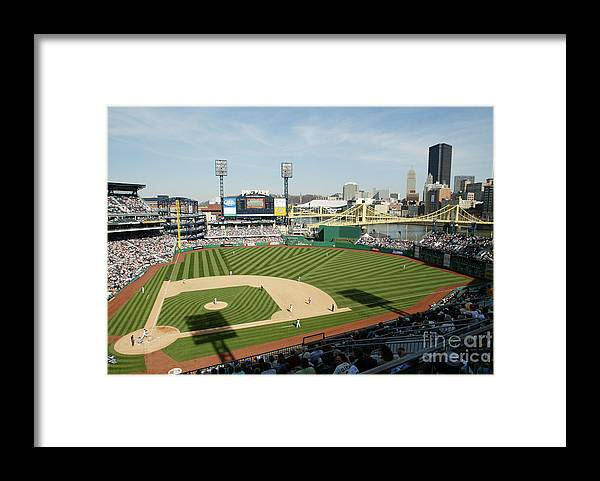Opening Ceremony Framed Print featuring the photograph Los Angeles Dodgers V Pittsburgh Pirates by Rick Stewart