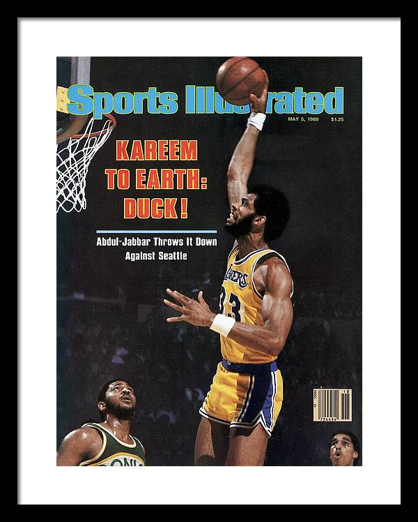 Los Angeles Lakers Kareem Abdul-jabbar, 1980 Nba Western Sports Illustrated Cover Framed Print