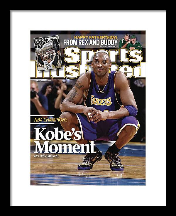 Magazine Cover Framed Print featuring the photograph Los Angeles Lakers Kobe Bryant, 2009 Nba Finals Sports Illustrated Cover by Sports Illustrated
