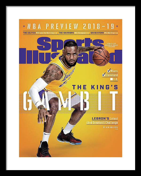 Magazine Cover Framed Print featuring the photograph Los Angeles Lakers LeBron James, 2018-19 Nba Basketball Sports Illustrated Cover by Sports Illustrated