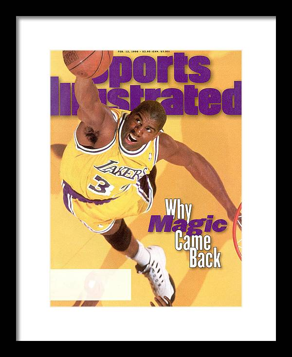 Chicago Bulls Framed Print featuring the photograph Los Angeles Lakers Magic Johnson Sports Illustrated Cover by Sports Illustrated