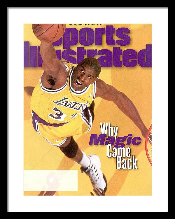 Los Angeles Lakers Magic Johnson Sports Illustrated Cover Framed Print